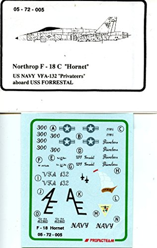 Propagteam Decals 1:72 F-18 C Hornet US Navy VFA-132 Privateers #05-72-005