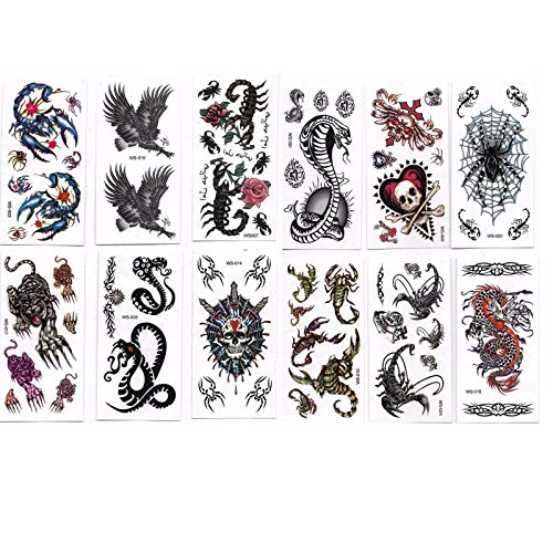 New Celebration 6pcs Assorted Halloween Temporary Tattoos Party Bag Fillers Favours -