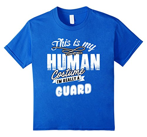 Adult Royal Guard Halloween Costumes (Kids I'm Really a Guard Costume Halloween Shirt for Women Men Kid 4 Royal Blue)