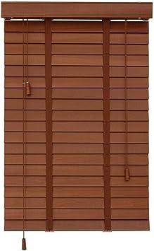 GYH Persianas de Bambu Persianas de Madera Maciza a Medida Chino Sala de Estar Dormitorio baño apagones persianas de Madera de 2 Colores de Varios tamaños (#) (Color : A, Tamaño :