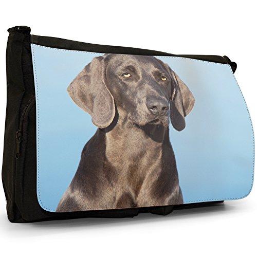 Canvas Black Weimaraner Messenger Laptop Grey Of Bag Vorstehhund Large Dog Portrait Shoulder Ghost School xpw0wY1q