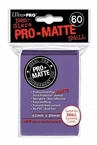 Ultra Pro Pro-Matte Sleeves - Purple, Small - for Yu-Gi-Oh, Cardfight/CFVG (60 Deck Protectors) ()