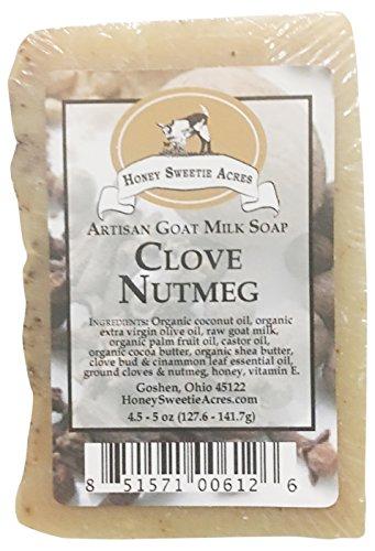 Green Butter Soap - Honey Sweetie Acres Goat Milk Soap, Clove Nutmeg