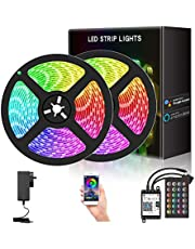 YESDEX LED Strip Lights, WiFi 2x5M 300LED 5050RGB Waterproof Bluetooth Control (SAA Certified)