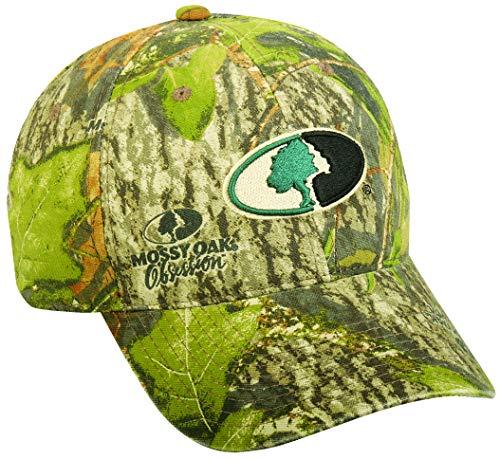 ocg Mossy Oak Green Camo Hunting Hat Cap Black Tan