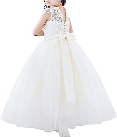 Flower Girls Dress Lace Princess Pageant Wedding Bridesmaid Formal Communion
