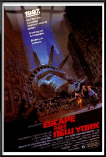 Escape From New York - Framed Movie Poster / Print
