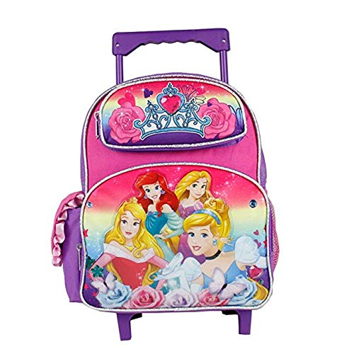 (Disney Princess Vibrant Rainbow Small Size Rolling Backpack (12in))