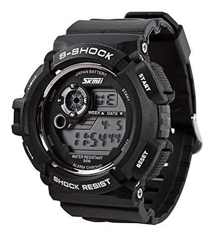 SKMEI S-Shock Sports Waterproof LED Digital Watch (Black) - 4