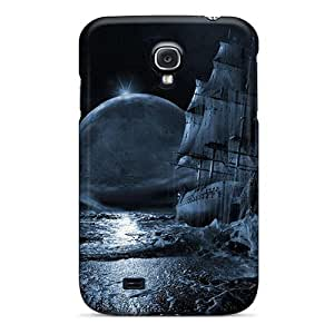 KCd12187RnWt Anti-scratch Cases Covers PamarelaObwerker Protective Blue Moon Rising 3d And Cg Cases For Galaxy S4
