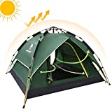 Camel Fourth-generation Automatic Hydraulic Tent for 2-3 Person Outdoor Rainproof Camping (Green)