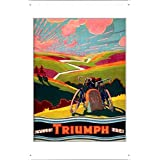 Tin Sign Motorcycle Bike Poster Metal Plate Wall Decor by Jake Box 20*30cm of Triumph Cycles 1934