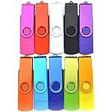 FEBNISCTE 10pcs 8GB Mix Color OTG USB3.0 Flash Drive for Cell Phones & Tablet PCs