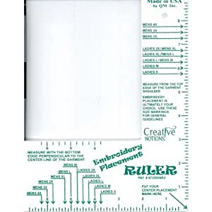 Critical image for printable embroidery placement ruler