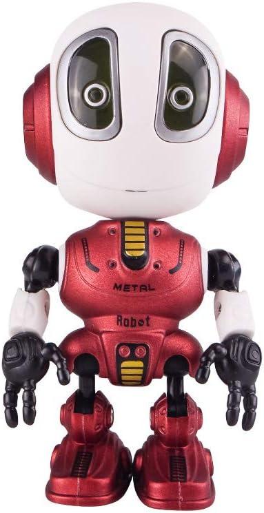 Sipobuy Divertido Grabación Hablando Mini Robot de Juguete, Interactivo con Repite tu Voz, Luces parpadeantes de Colores, Sensación de la Cabeza, Regalo Genial para niños pequeños de 3-12 años, Rojo