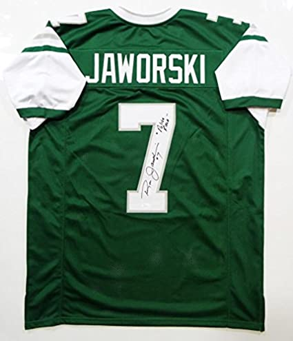 cda449e8f4a Ron Jaworski Autographed Green Pro Style Jersey w/Polish Rifle- JSA W Auth  7 at Amazon's Sports Collectibles Store