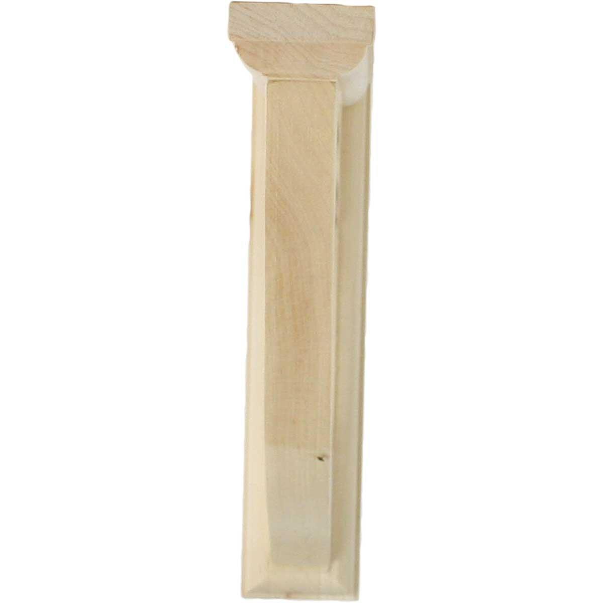 Rubberwood Ekena Millwork BKT01X07X07ADRW-CASE-6 1 1//2 W D x 7 H Andrea Wagon Wheel Bracket Piece 6-Pack