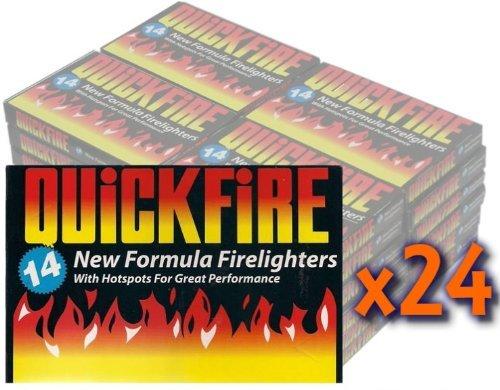 24 Packs of Quickfire Firelighters Bulk Pack Hotspots 505549380432