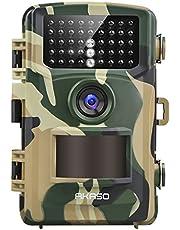 Wildkamera 14MP 1080P Full HD - AKASO Jagdkamera Fotofalle Beutekamera mit Bewegungsmelder 20M Nachtsicht IP66 Wasserdichte 120°Weitwinkel 2.4'' LCD Loop-Aufnahme Garten- Hausüberwachung