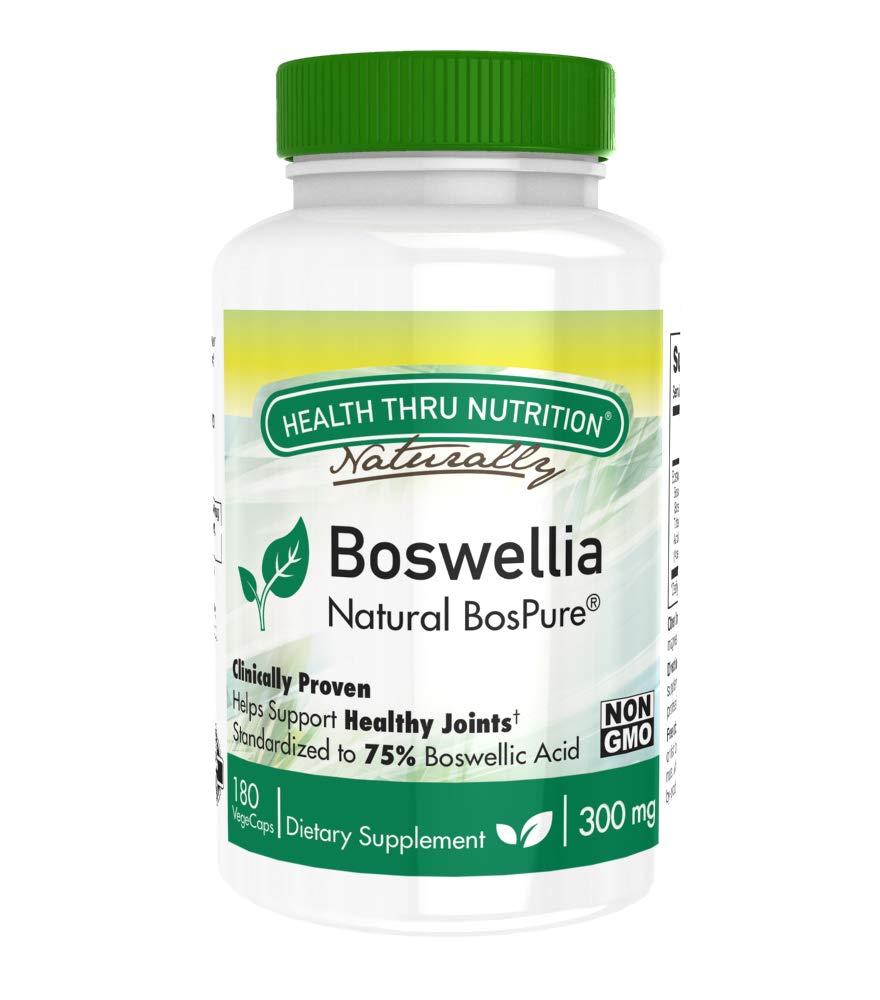 Health Thru Nutrition Boswellia Bospure Non-GMO 300Mg Vege-Capsules, 180 Count