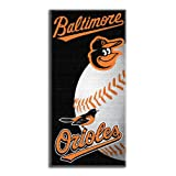 MLB Baltimore Orioles Emblem Beach Towel, 28 x 58-Inch