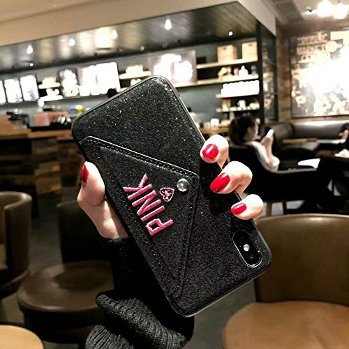 Wallet - Pink Glitter Leather Fashion Hot Case Plus XS XR XS - by John_Kendy - 1