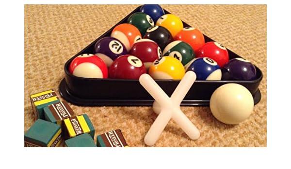 Pequeño 41 mm puntos y rayas set de bolas de billar, triángulo ...
