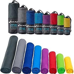 Fit-Flip Asciugamano in Microfibra – in Tutti i Colori, 8 Misure – Compatto & Ultraleggero – Microfibra Asciugamano – Il Perfetto Asciugamano Sport, Asciugamano Viaggio e Asciugamano Palestra 2 spesavip