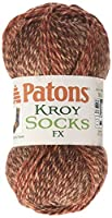 Kroy Socks FX Yarn-Copper Colors by Spinrite