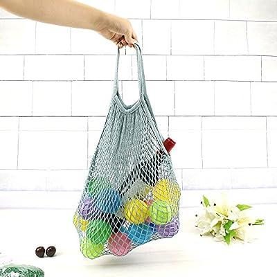 Ouken Organizador de bolsa de malla reutilizable portátil compras bolsa algodón cadena Net (gris) (gris): Amazon.es: Hogar
