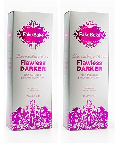 Self Tanning Liquid Flawless Darker by Fake Bake | Luxurious and Fast-Drying Solution that delivers the Beautiful Streak-Free...
