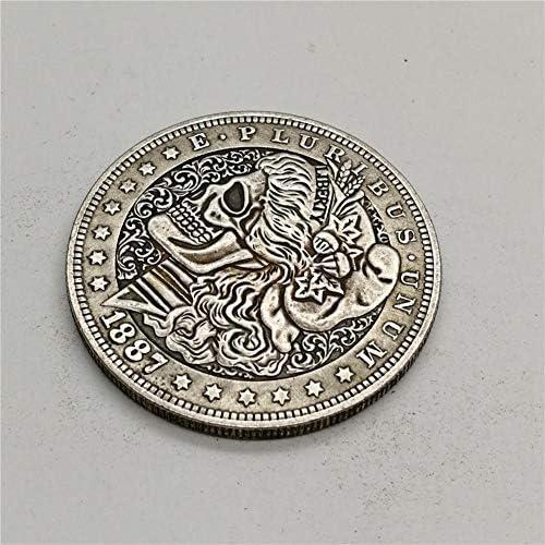 SUPERLOVE Moneda De Plata Tridimensional En Relieve Virtual,1887 Moneda Conmemorativa De La Moneda Conmemorativa del Dólar De Plata Estadounidense Morgan Moneda Conmemorativa Moneda: Amazon.es: Hogar