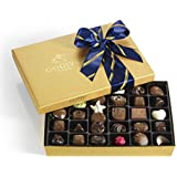 Godiva Chocolatier Assorted Chocolate Gold Gift Box, Striped Ribbon, Great for Dads, 36 Count