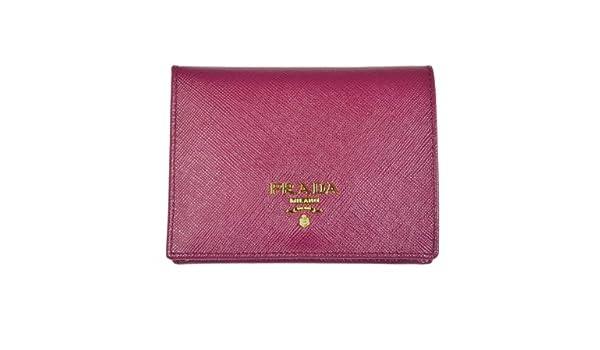 fc3063e52ede Amazon.com: PRADA Saffiano Leather Bi-Fold Wallet Ametista 1M0204: Shoes