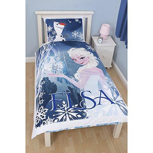Disney Frozen Childrens Girls Elsa Reversible Single Duvet Cover Bedding Set (Single) (Blue) UTKB871_1
