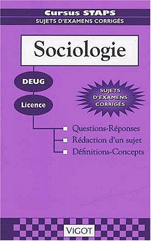 Sociologie deug, licence - questions-reponses, rédaction dun sujet, definitions, concepts Cursus staps: Amazon.es: Collectif, Raymond Thomas: Libros en ...