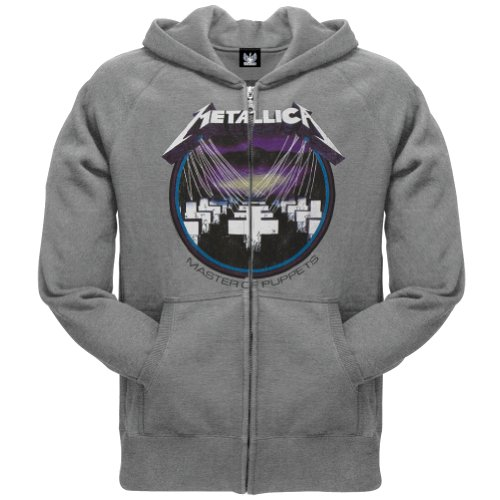 Metallica - Mens Retro Master Zip Hoodie Small (Indie Retro Old Shirt)