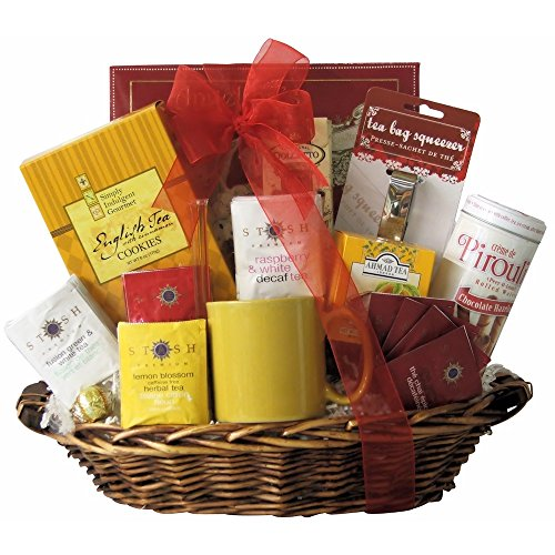 Great Arrivals Gourmet Tea Gift Basket, Tea Treasures Medium