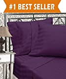 Difference Between Cal King and King Bed Elegant Comfort Best, Softest, Coziest 3-Piece Duvet Cover Sets! - 1500 Thread Count Egyptian Quality Luxurious Wrinkle Resistant 3-Piece DAMASK STRIPE Duvet Cover Set, King/Cal-King, Eggplant/Purple