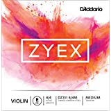 D'Addario Zyex Violin Single E String, 4/4 Scale, Medium Tension