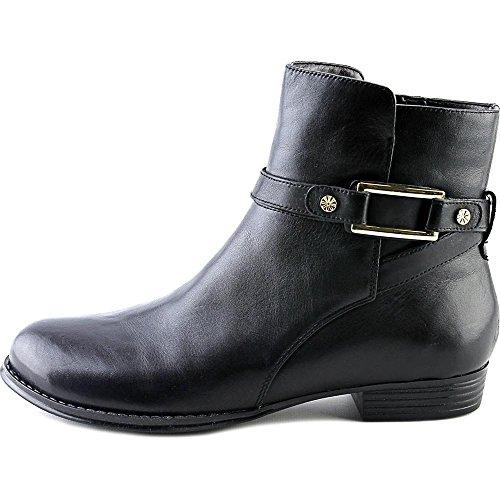 Isaac Mizrahi Live! Womens Tinker Läder Mitten-top Boot Black