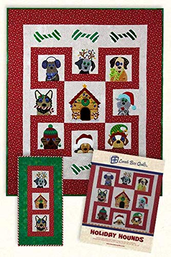 Lunch Box Quilts Holiday Hounds Applique Machine Embroidery Design Pattern with CD (Embroidery Quilt Designs Machine)