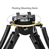 """Lion Gears Scout-pod Tactical Pro Bipod, 7.3"""" to 9"""" Heigth Adjustable, with Adjustable Double Swivel (Side to Side Pivoting and Swivel) and QD Mounting Deck, SP-SL07"""