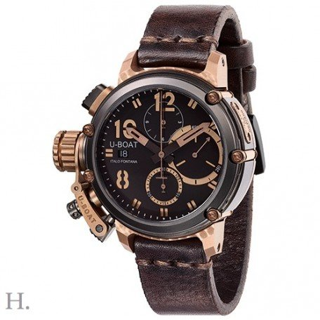 U-Boat Watch Germany Chronograph 43mm Chimera Bronze B&B 8015