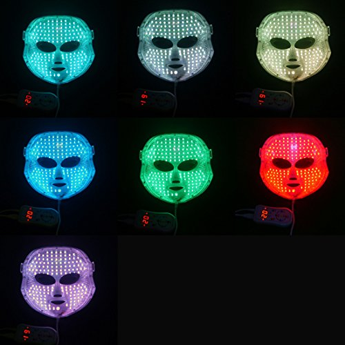 Newkey Advanced 7 Color LED Light Photon Therapy System Facial Skin Care & Beauty Mask by NEWKEY (Image #2)