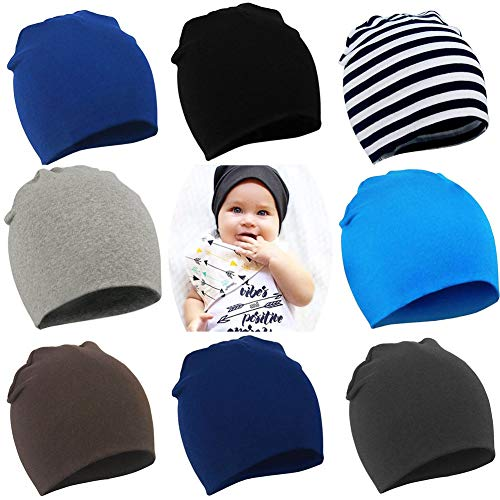 d4abf3bbf51 YJWAN Toddler Infant Baby Beanie Soft Cute Cotton Unisex Lovely Boy Girl  Knit Cap Hat (