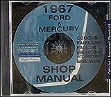 1967 CD Repair Shop Manual Mustang Falcon Fairlane Ranchero Cougar Comet Cyclone
