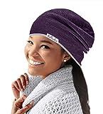 Lullado Silk Satin-Lined Slouchy Beanie Cute, Warm Winter Hat in Fine Knit, Lull Cap, Chemo Cap, Unisex   Ships Fast!