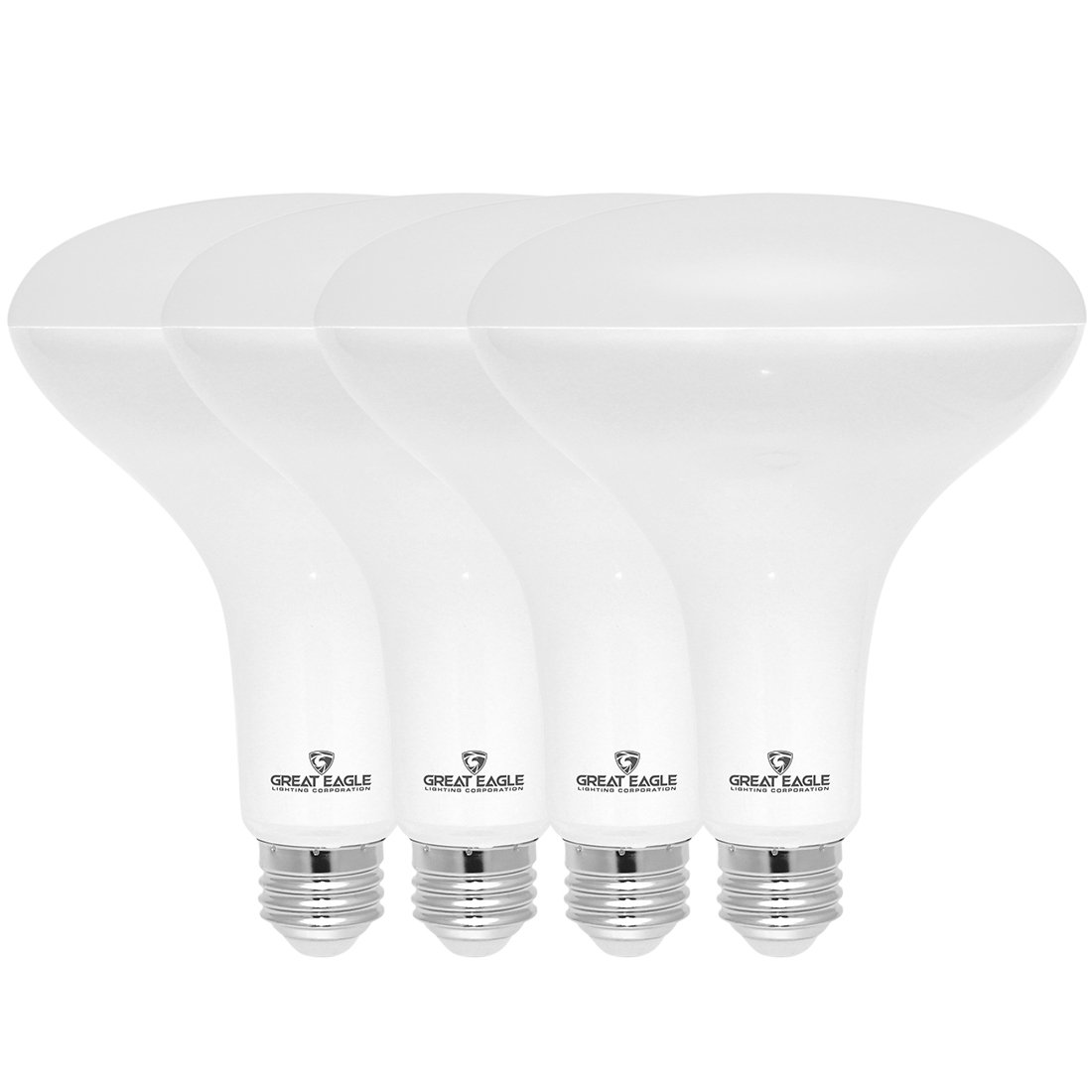 Great Eagle LED BR40 3000K Dimmable Light Bulb, 15W(120W Equivalent) UL Listed 1480 Lumens Bright White Color for Recessed and Track Lighting Fixtures (4-Pack) by Great Eagle Lighting Corporation