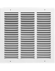 Rocky Mountain Goods Air Return Grille - Heavy Duty Steel with Premium Finish - Includes Full Installation kit - Louvered Design - Paintable Vent Cover - Matte White - Consistent air Flow